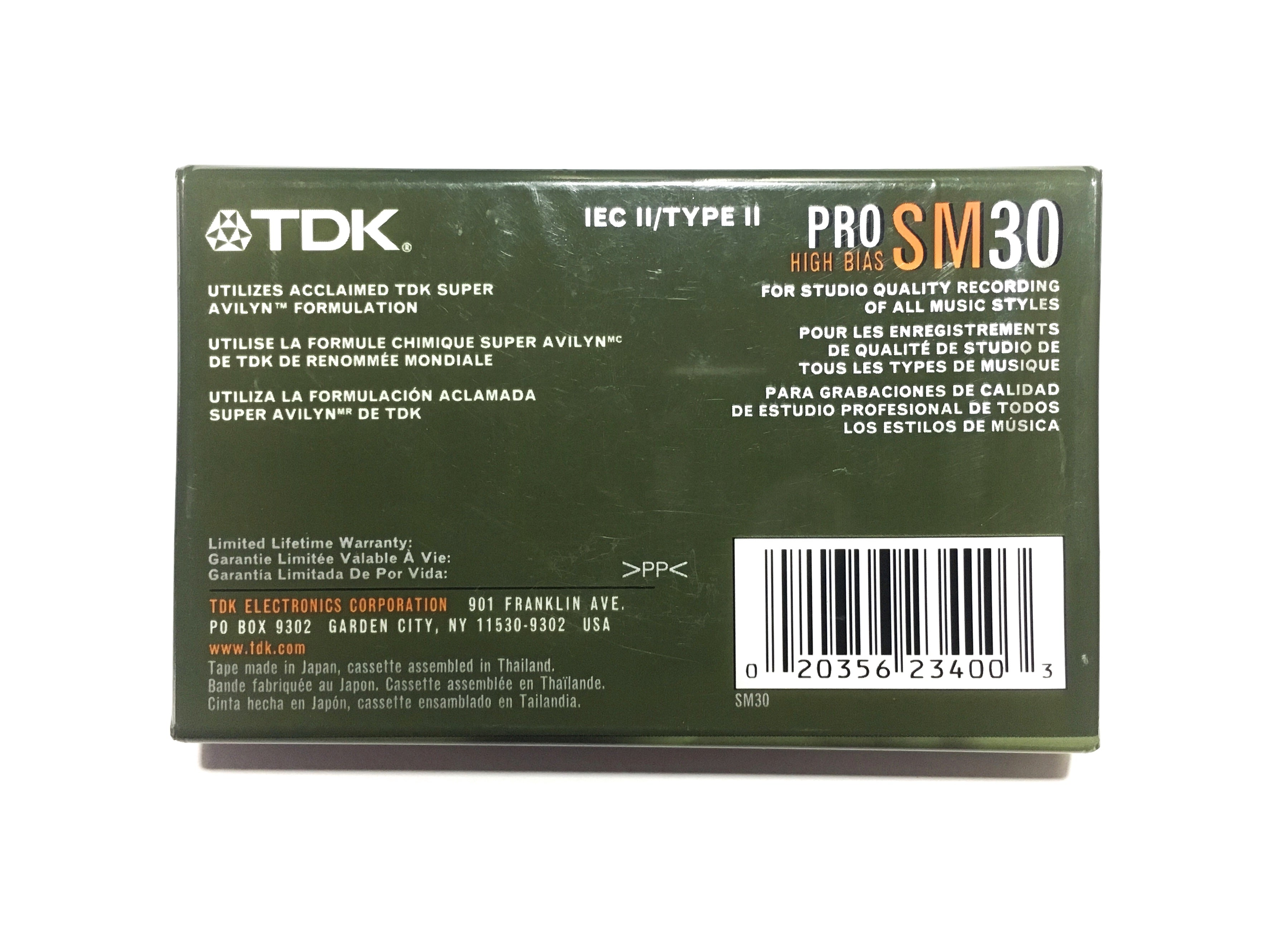 2003 TDK SM30 Type II Chrome Cassette Tape: FREE SHIPPING