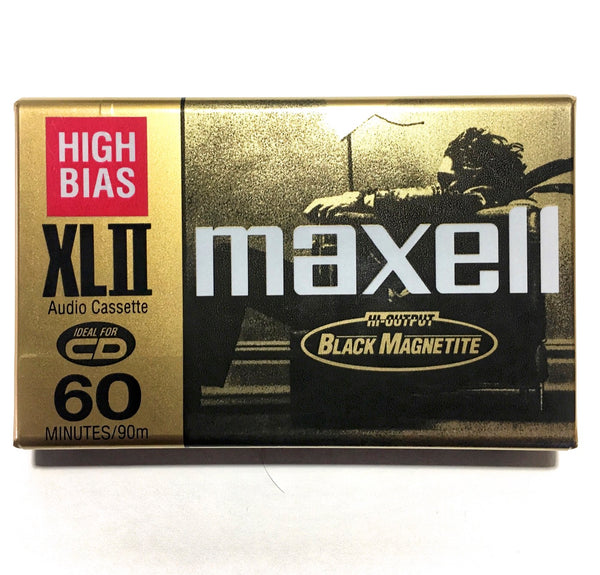 1996 Maxell XLII 60 Type II Chrome Cassette Tape: FREE SHIPPING