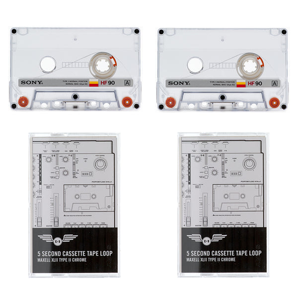 Cassette Tape Loop 2 Pack: Vintage HF Series / 5 Second Length *(for Ambient, Lo Fi, and Experimental Home Recording)