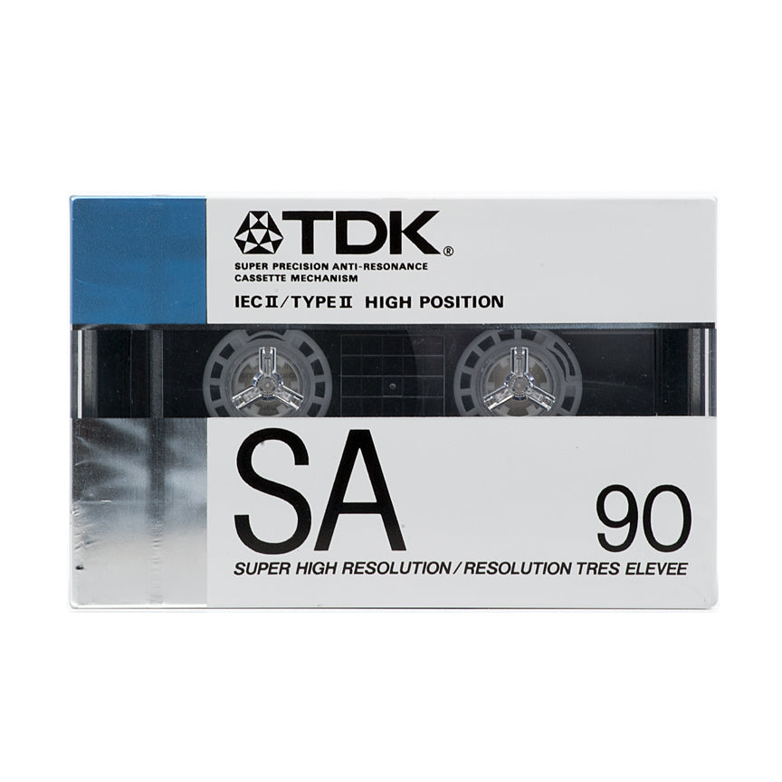 1988 TDK SA 90 Type II Chrome Cassette Tape