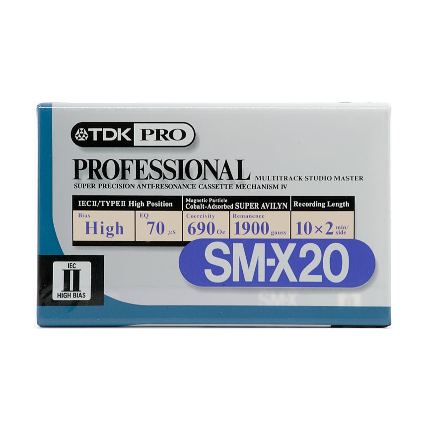 TDK SM-X 20 Type II Studio Master Chrome Cassette Tape