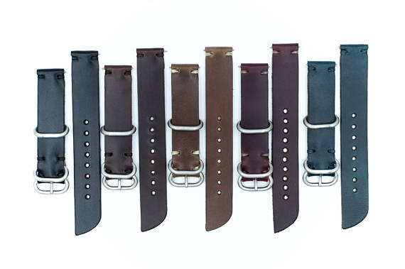Horween Leather Watch Band by E3 Supply Co: Brown Chromexcel