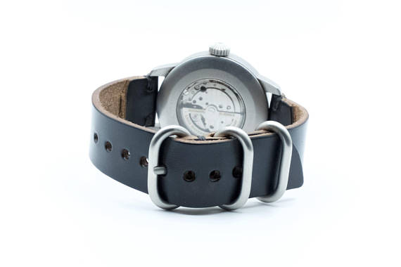 Horween Leather Watch Band by E3 Supply Co: Black Chromexcel