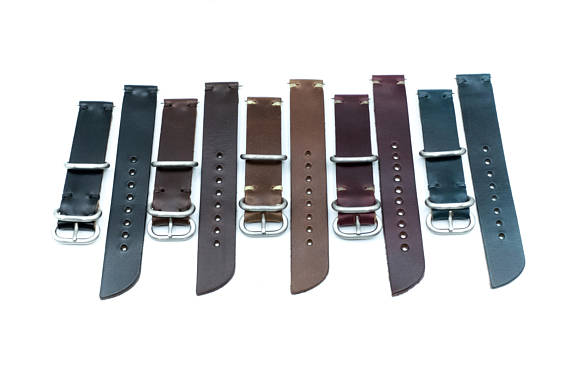 Handmade Horween Leather Watch Bands by E3 Supply Co