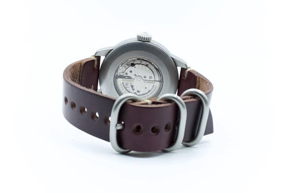 Horween Leather Watch Band by E3 Supply Co: Burgundy Chromexcel