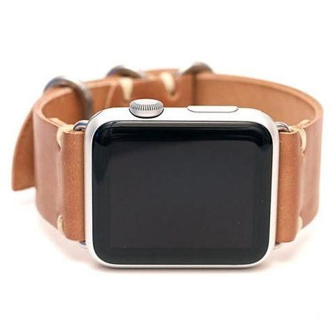 Shell Cordovan Leather Apple Watch Band by E3 Supply Co- 38mm & 42mm- Horween Natural