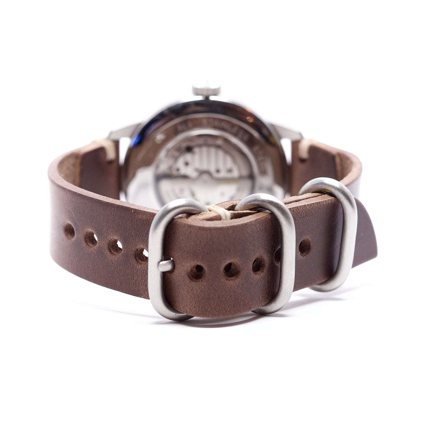 Leather Watch Strap by E3 Supply Co: Natural Horween Chromexcel