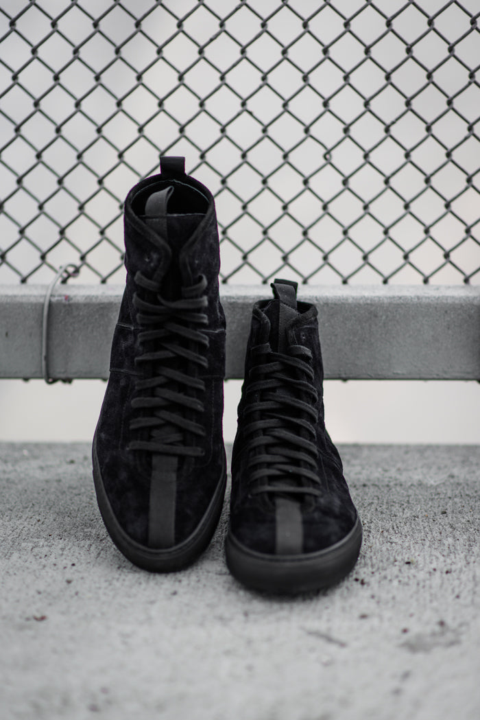 daniel patrick footwear high top roamer in black
