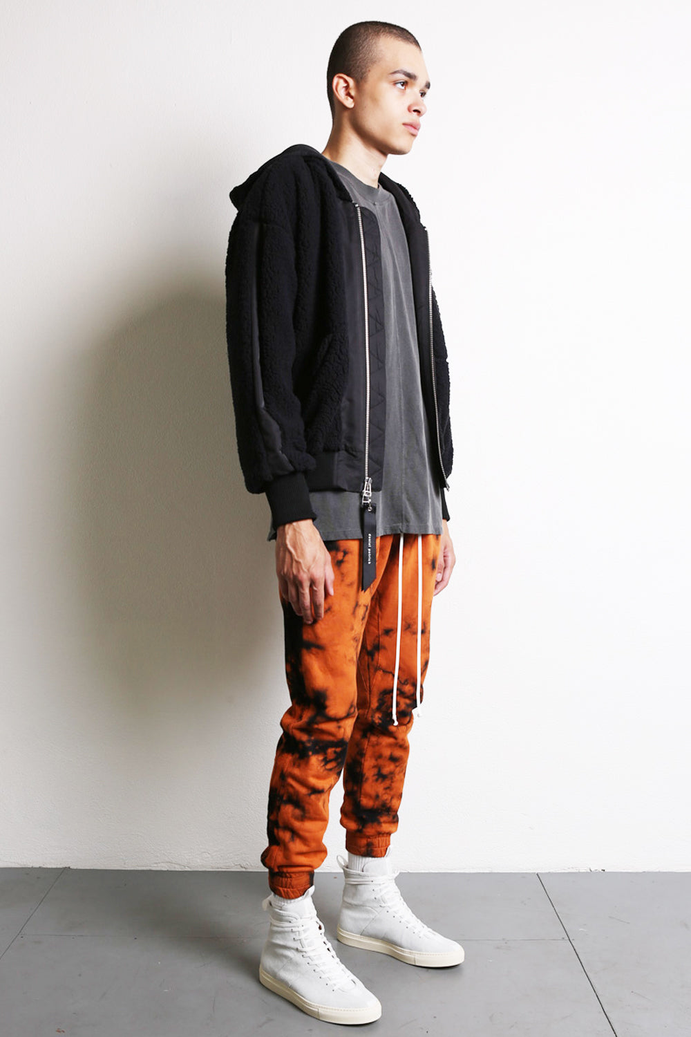roaming track pant in orange acid daniel patrick