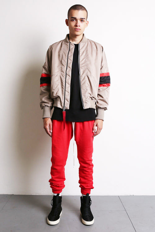 bomber 5.5 in wheat/black/red by daniel patrick