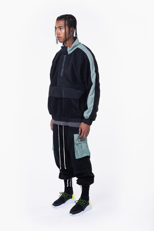 M93 anorak / black + sea foam