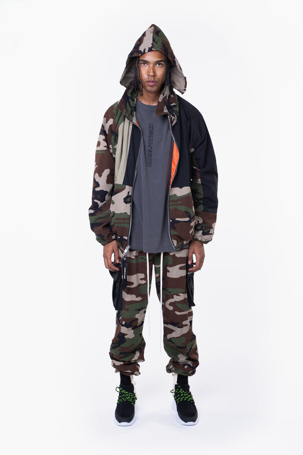 M93 track jacket / camo + smog grey + black
