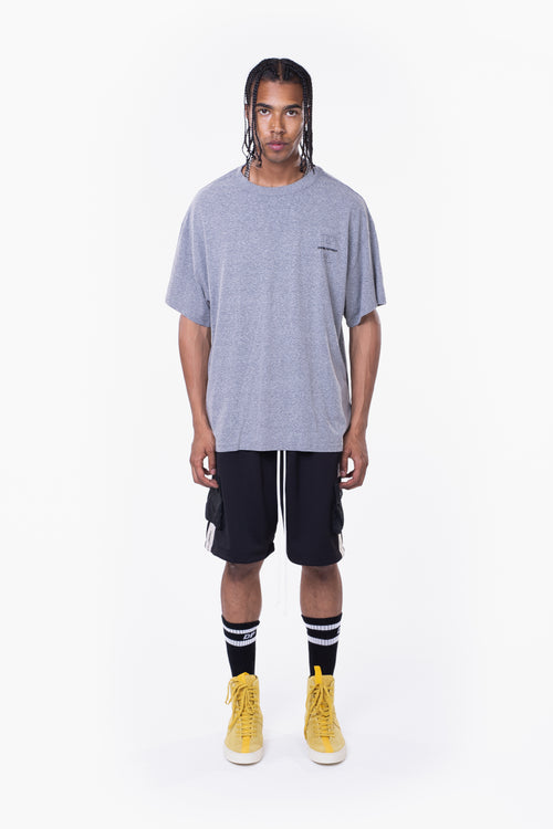 DP court tee / heather grey