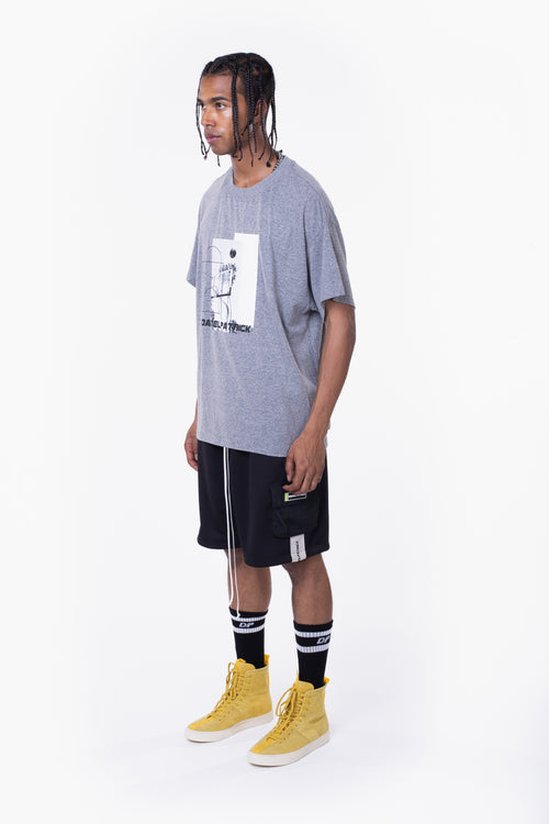94 b-ball tee / heather grey