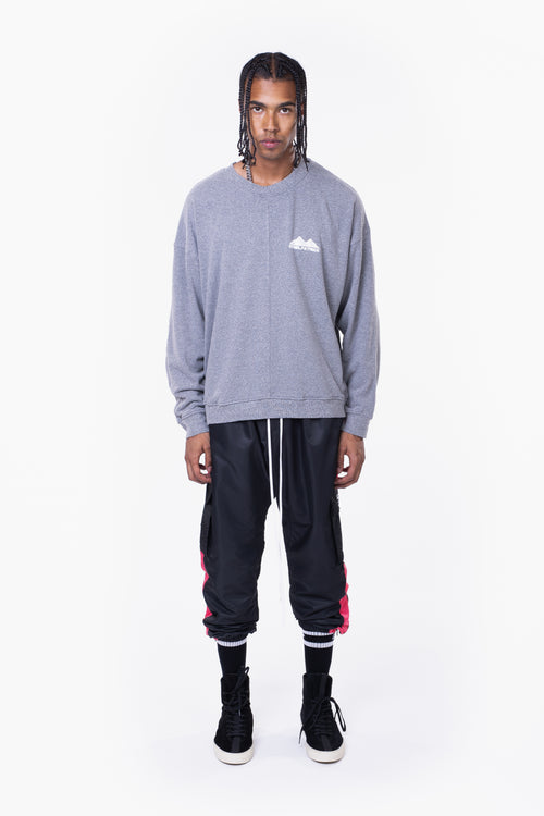 moving mountains crew neck sweat / heather grey