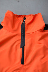 anorak track pullover / orange + black