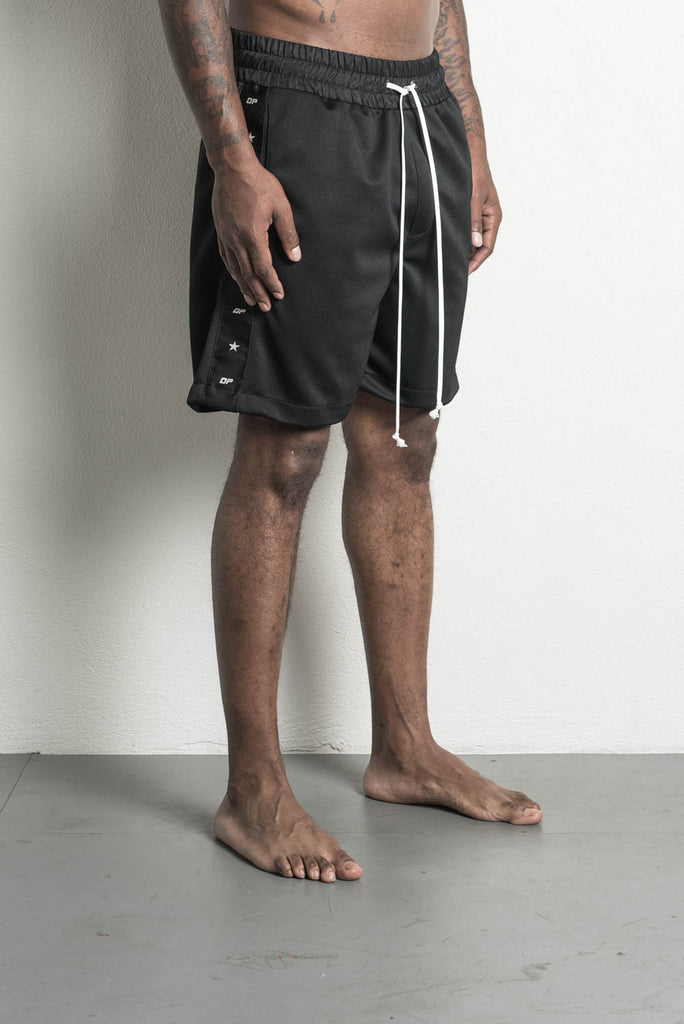 track team gym short in black by daniel patrick