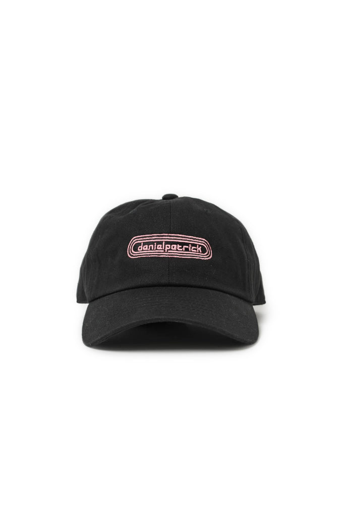 track cap in black/pink by daniel patrick