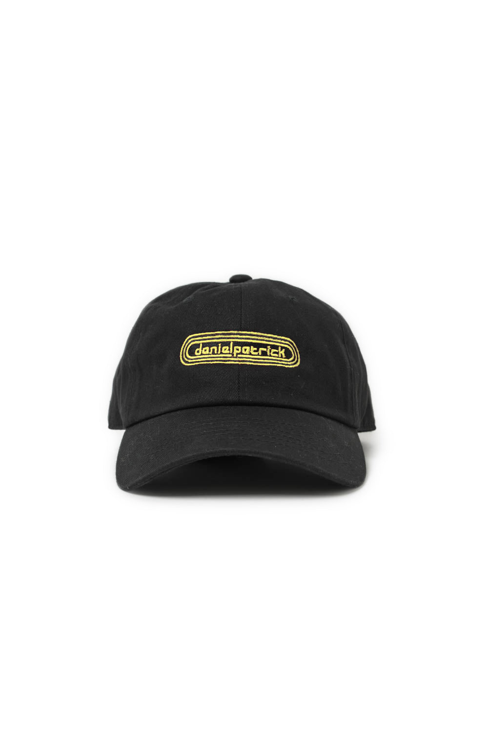 track cap in black/yellow by daniel patrick