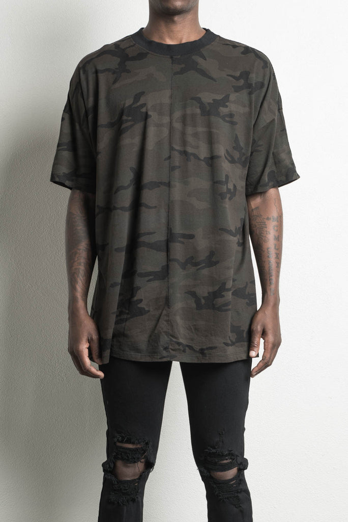 oversized dark camo t-shirt by daniel patrick