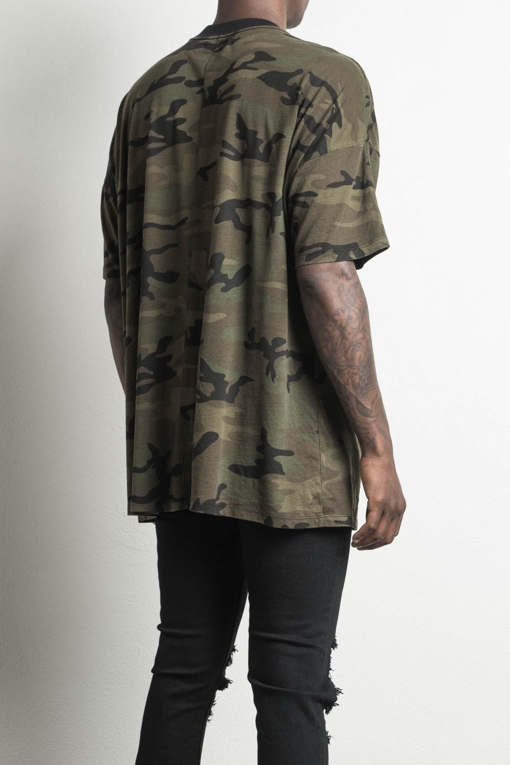 oversized camo t-shirt by daniel patrick