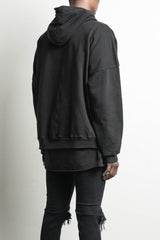 heavy hoodie NY in black by daniel patrick