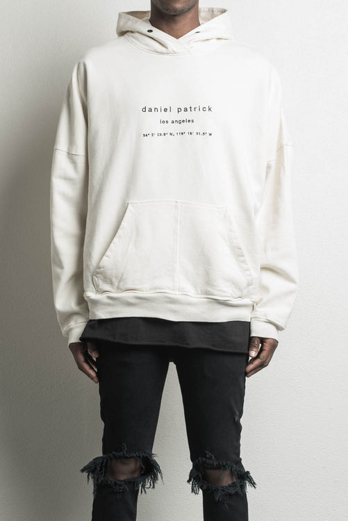 heavy hoodie LA in natural by daniel patrick