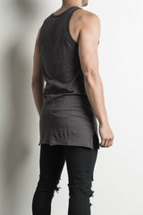loose tank in faded black by daniel patrick