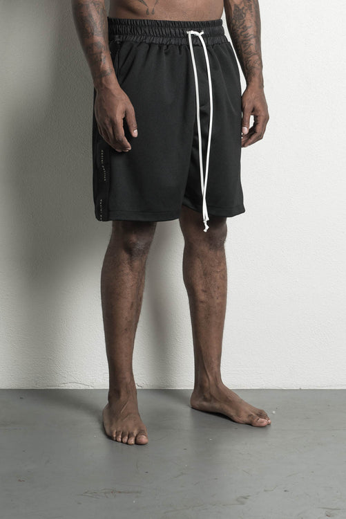 roaming gym short in black by daniel patrick