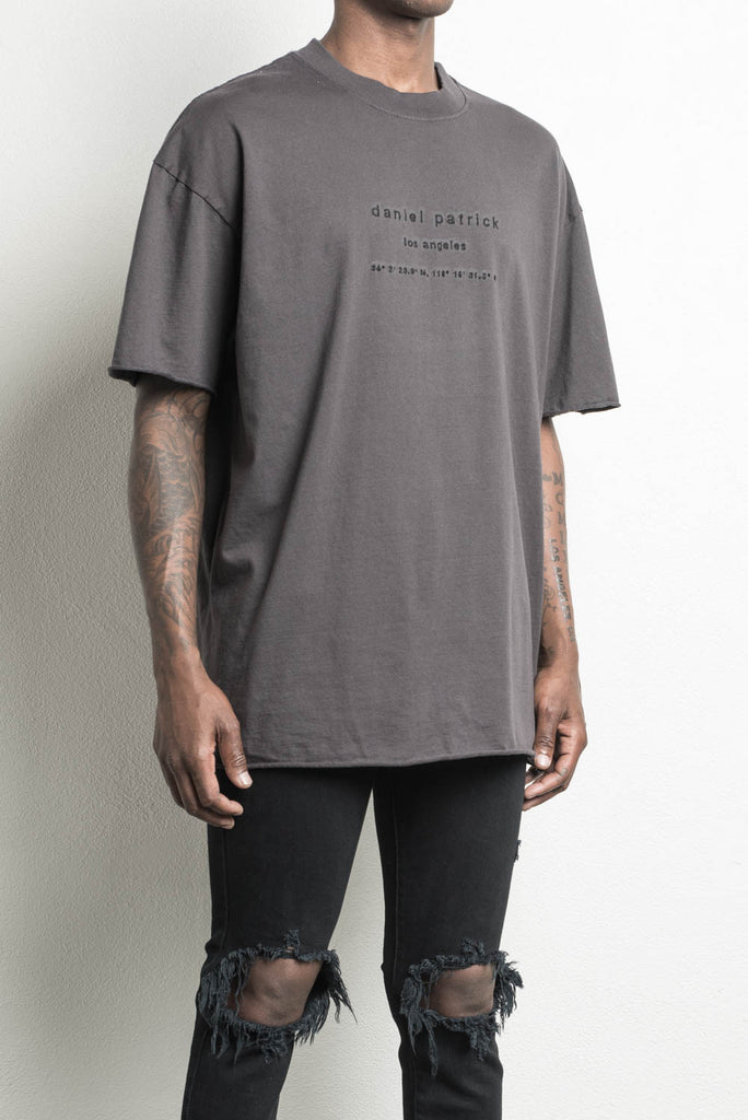 LA heavy tee in faded black by daniel patrick