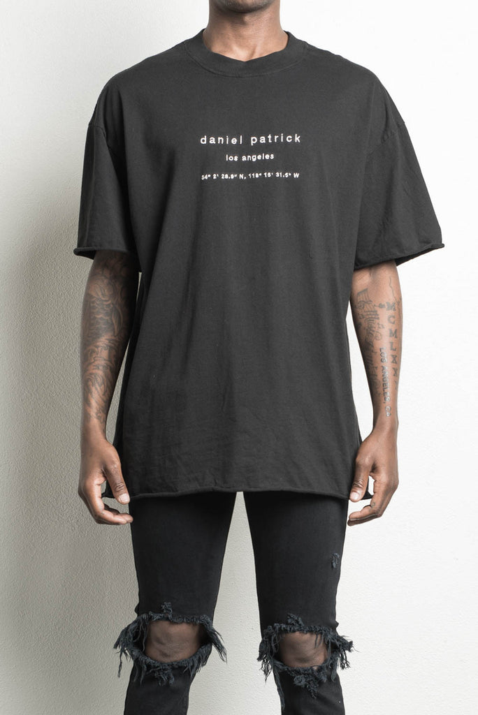 LA heavy tee in black by daniel patrick