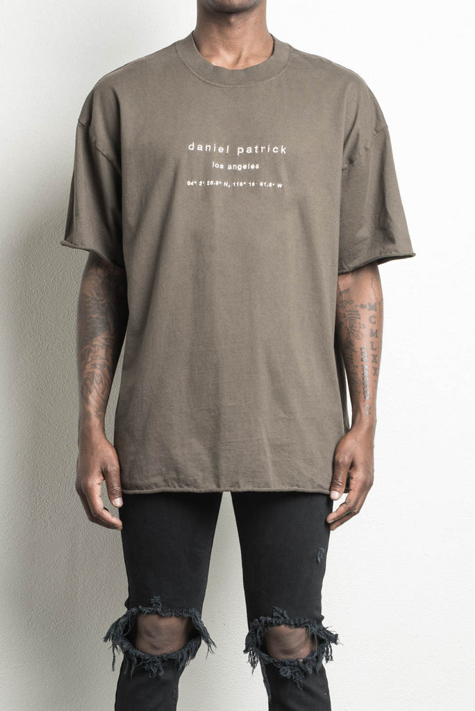 LA heavy tee in army by daniel patrick