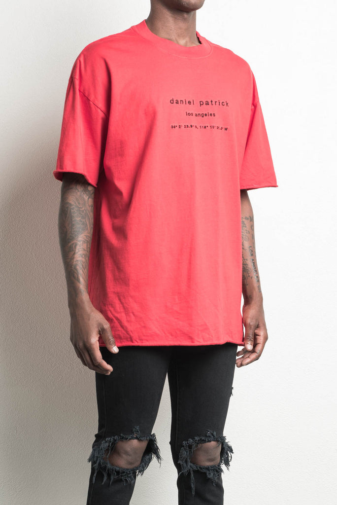 LA heavy tee in red by daniel patrick