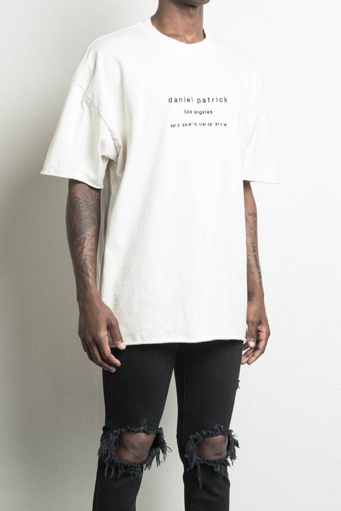 LA heavy tee in natural by daniel patrick