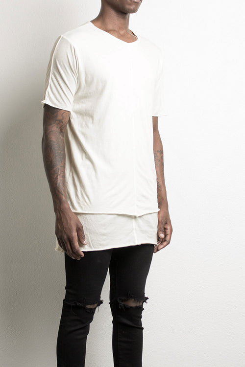 layered tee by daniel patrick, in natural