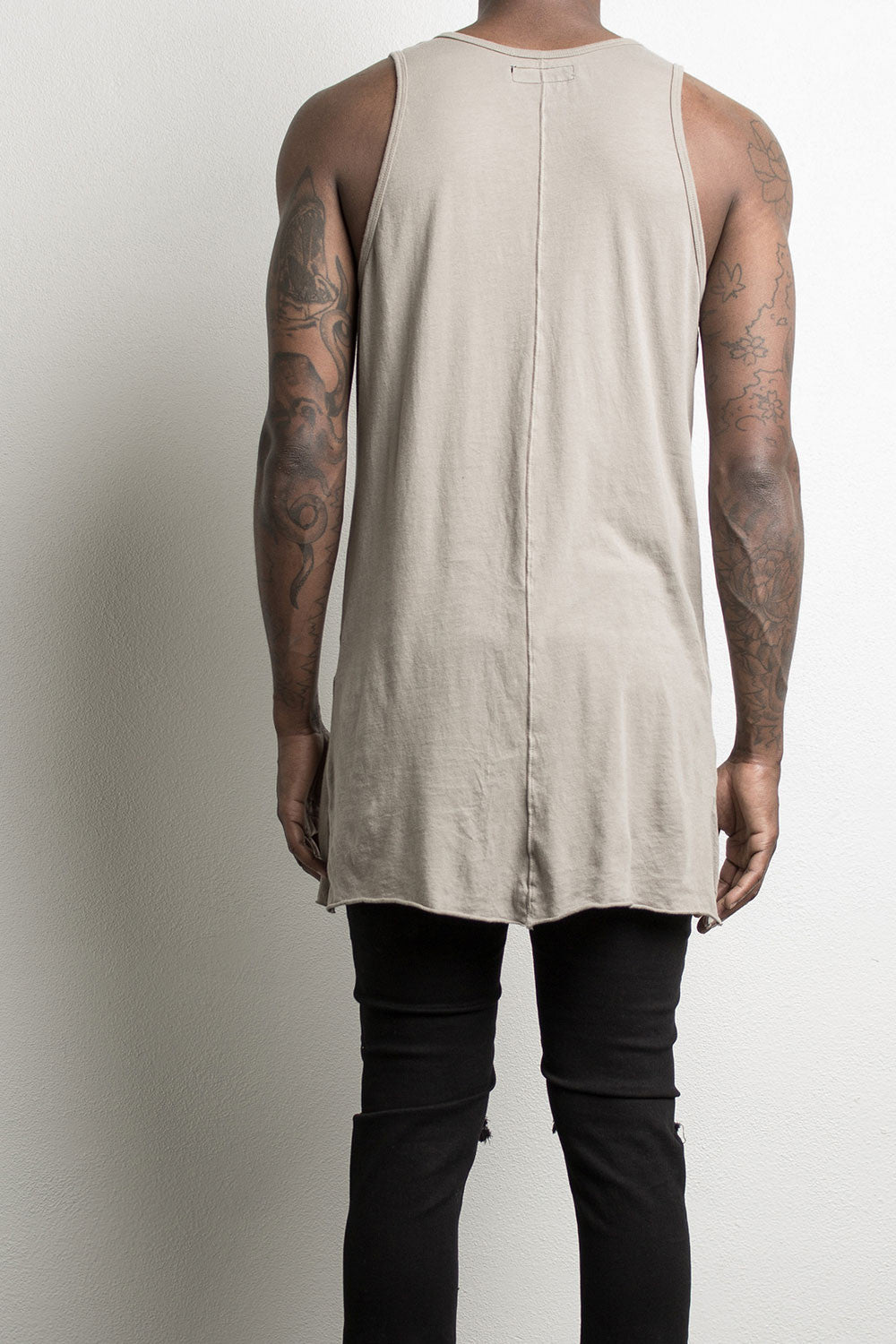 loose tank top by daniel patrick in wheat