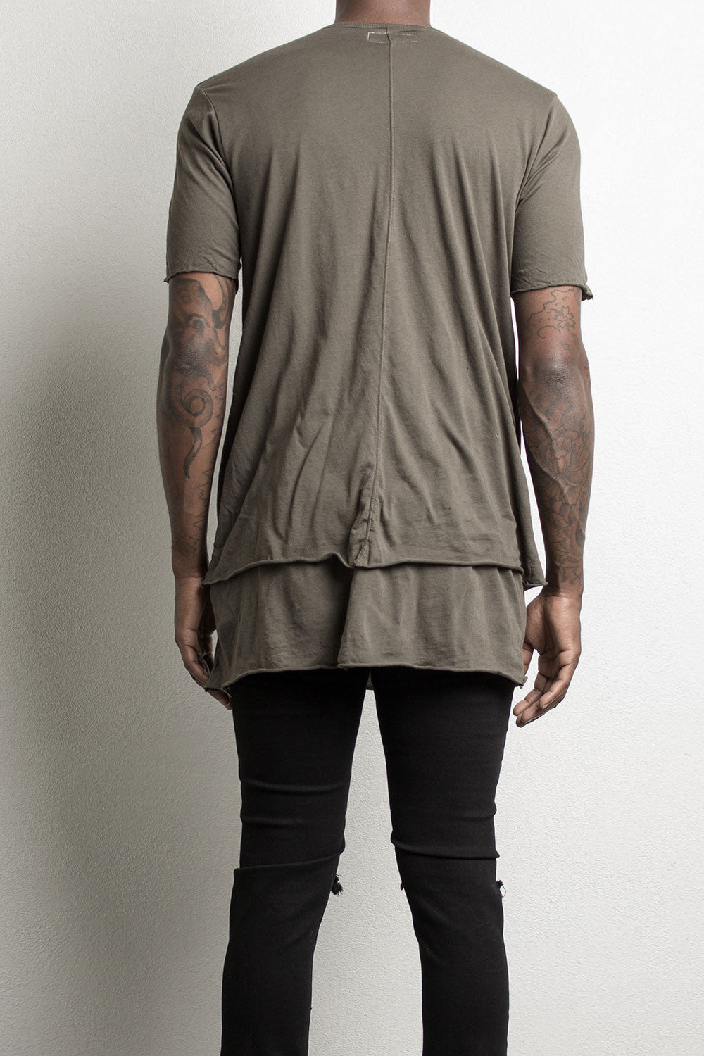 layered tee by daniel patrick, in army