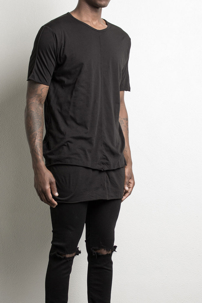 layered tee by daniel patrick, in black