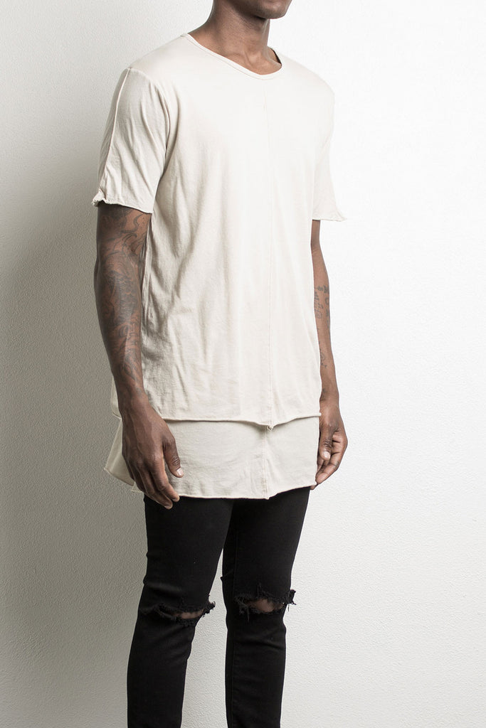 layered tee by daniel patrick, in sand