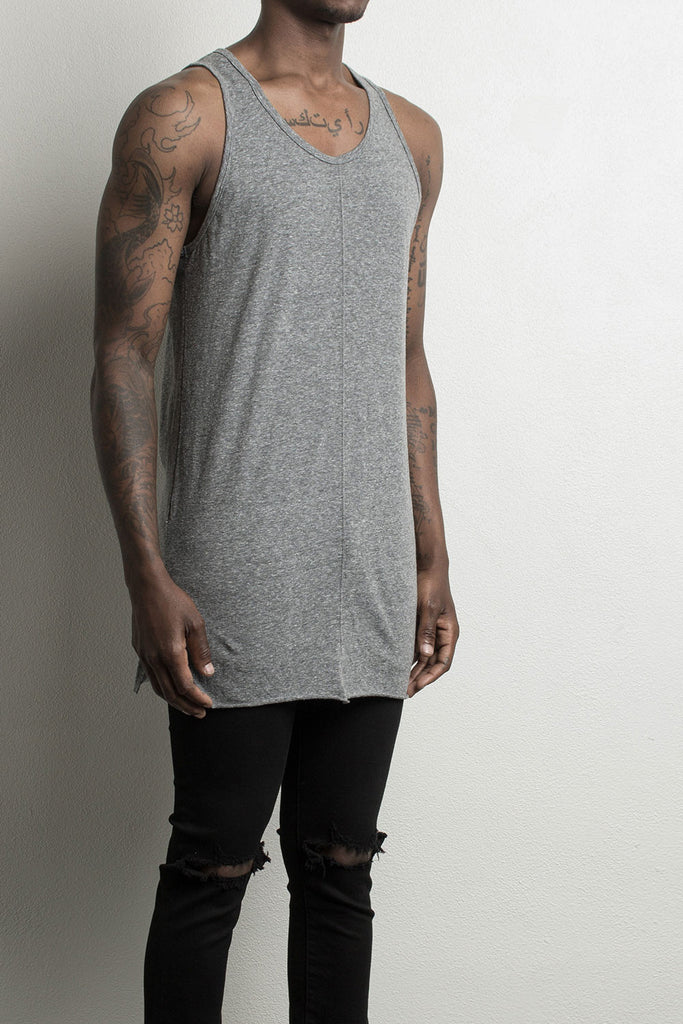 loose tank / heather grey