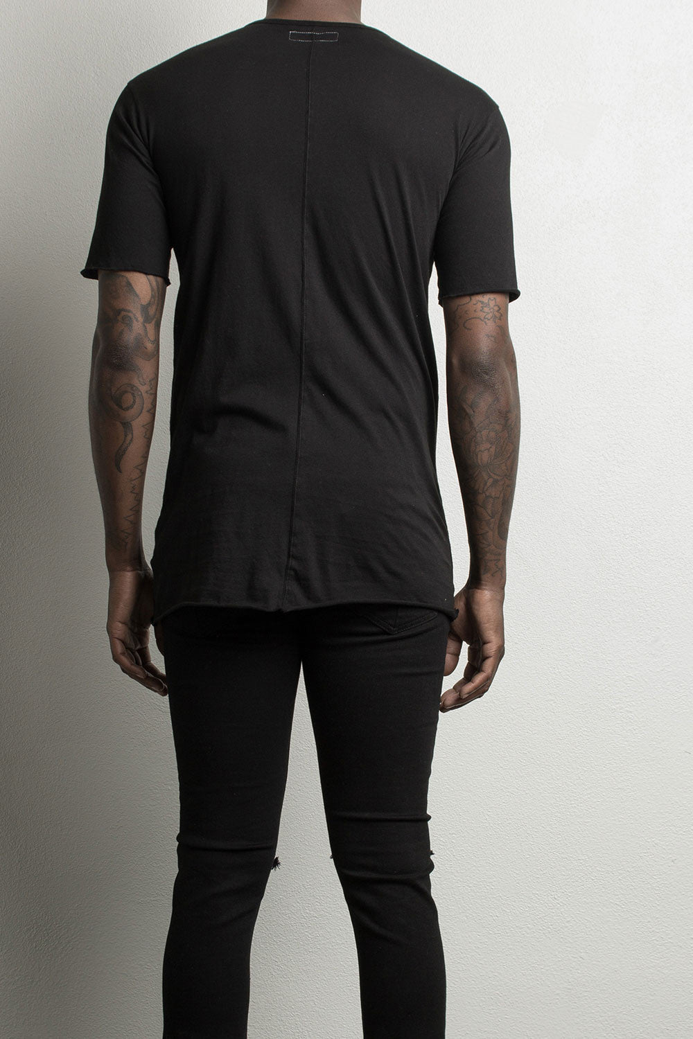 Black loose t-shirt by daniel patrick