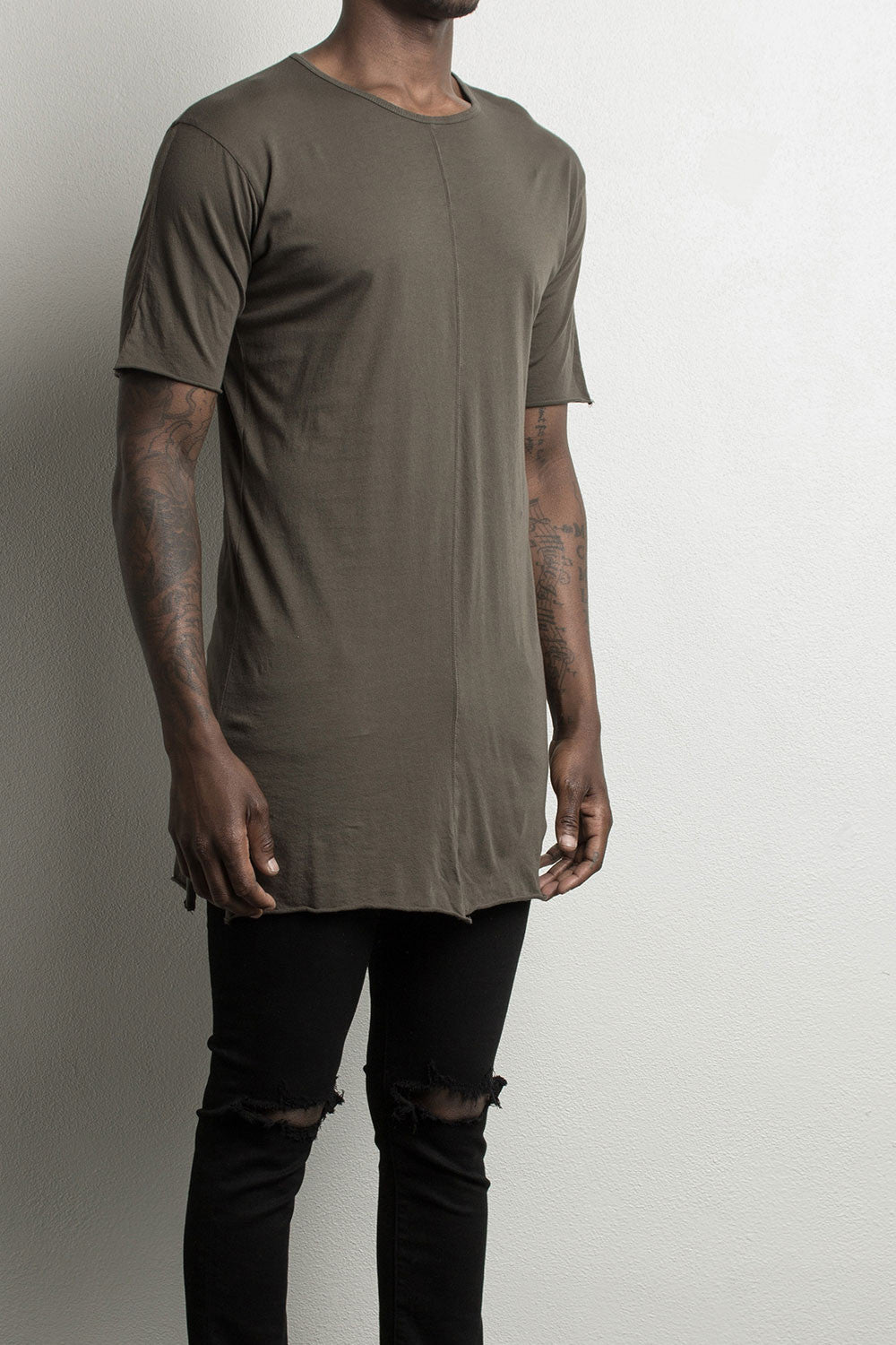 loose t-shirt by daniel patrick in Army