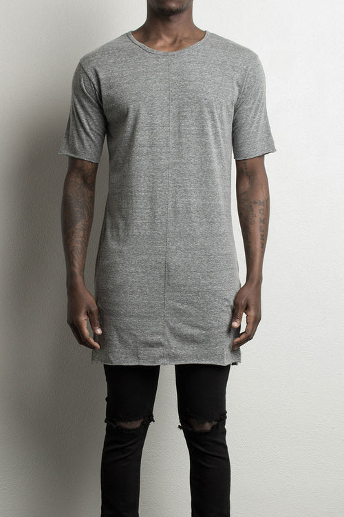 loose tee / heather grey
