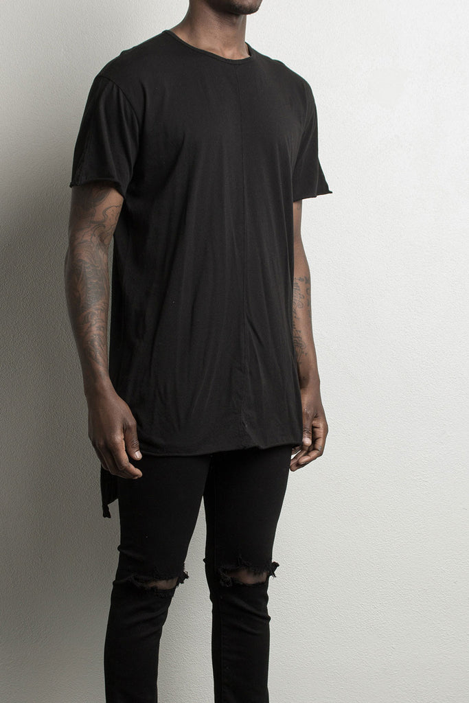 black long tail shirt by daniel patrick