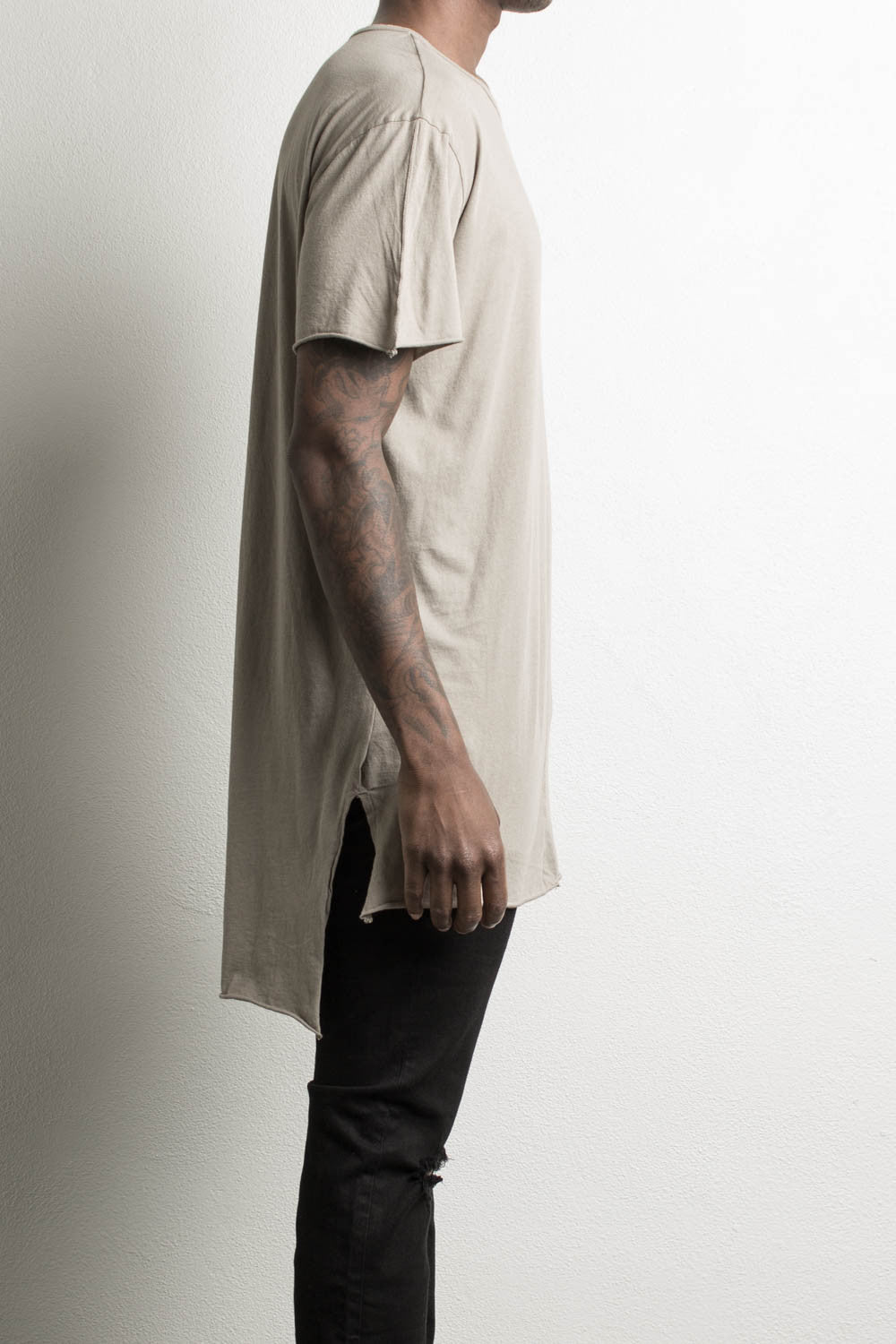 long tail shirt by daniel patrick in wheat