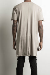 long back shirt by daniel patrick in wheat