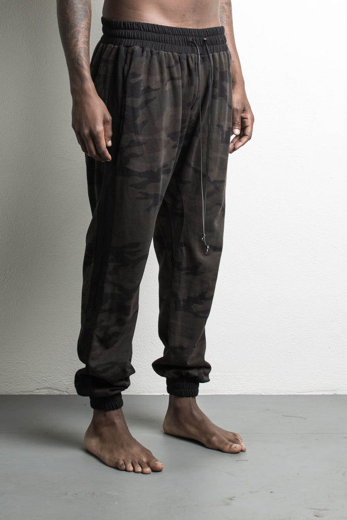 roaming track pants by daniel patrick in dark camo