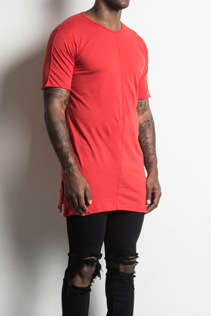 loose tee in red by daniel patrick