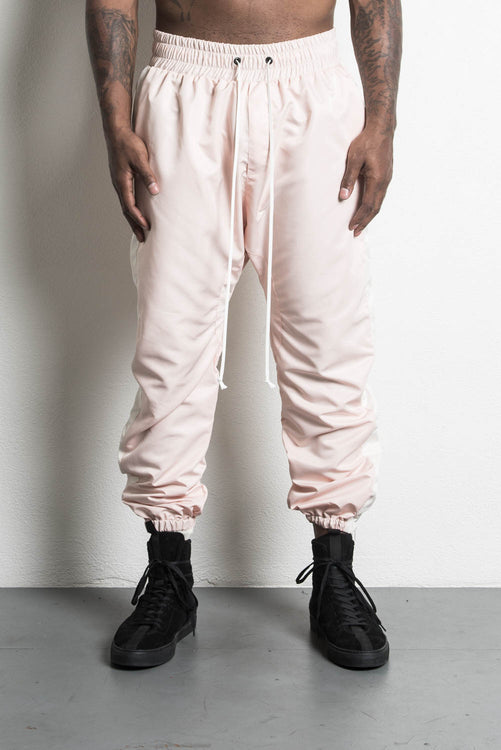 parachute track pant in pink/natural by daniel patrick