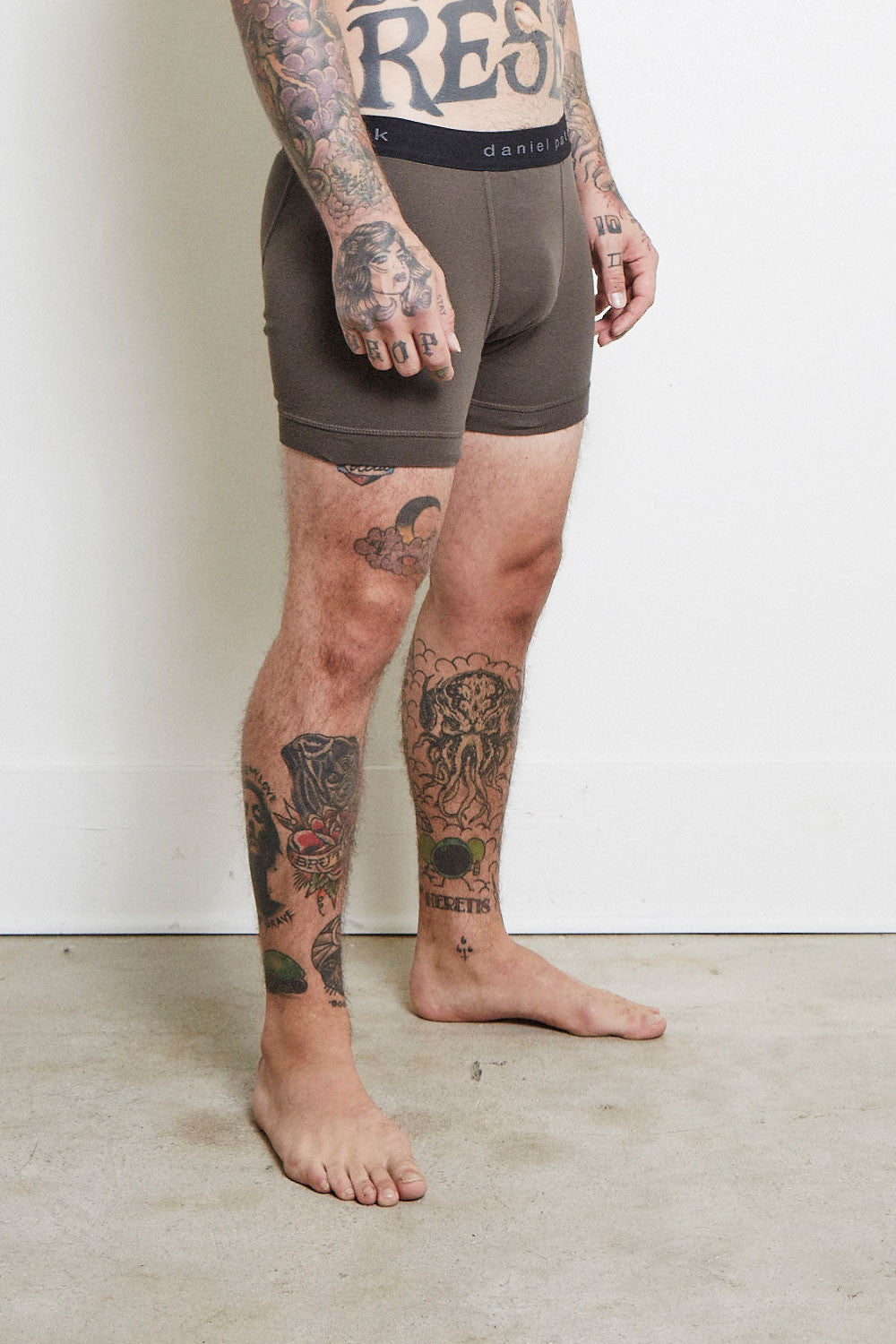 designer boxer briefs in army by daniel patrick